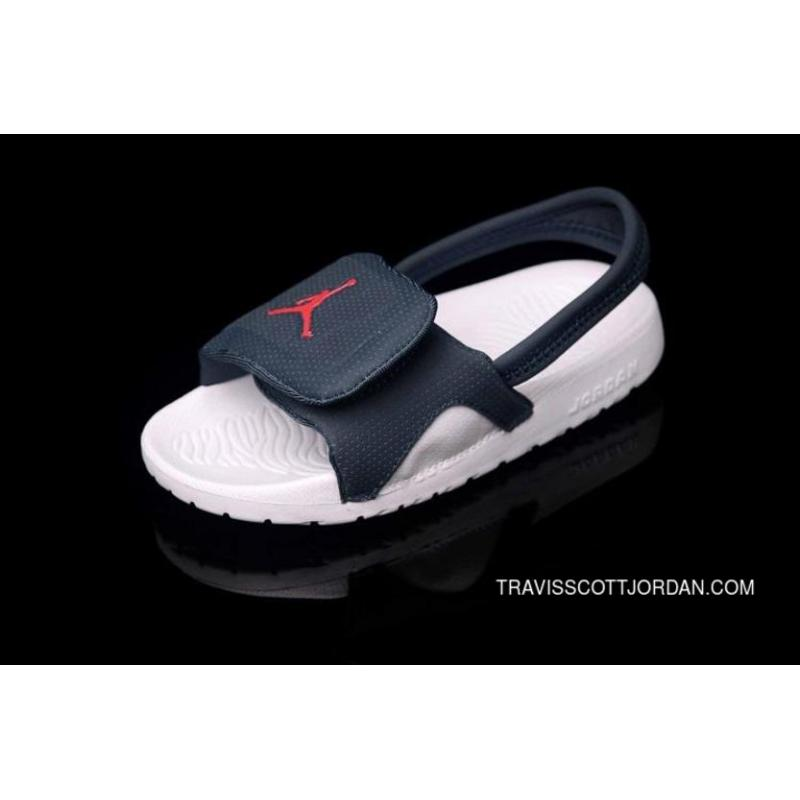 new products 3ad43 1a356 New Release 2015 Latest Summer Nike Air Jordan Kids Flip Flop Aj White Blue  Slippers