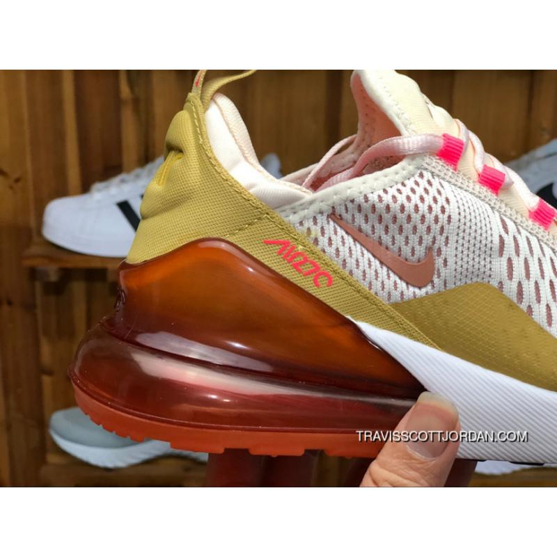 Nike Air Max 270 AH6789 801 Womens Running Shoes GUAVA ICETERRA BLUSH RACER PINK New Year Deals