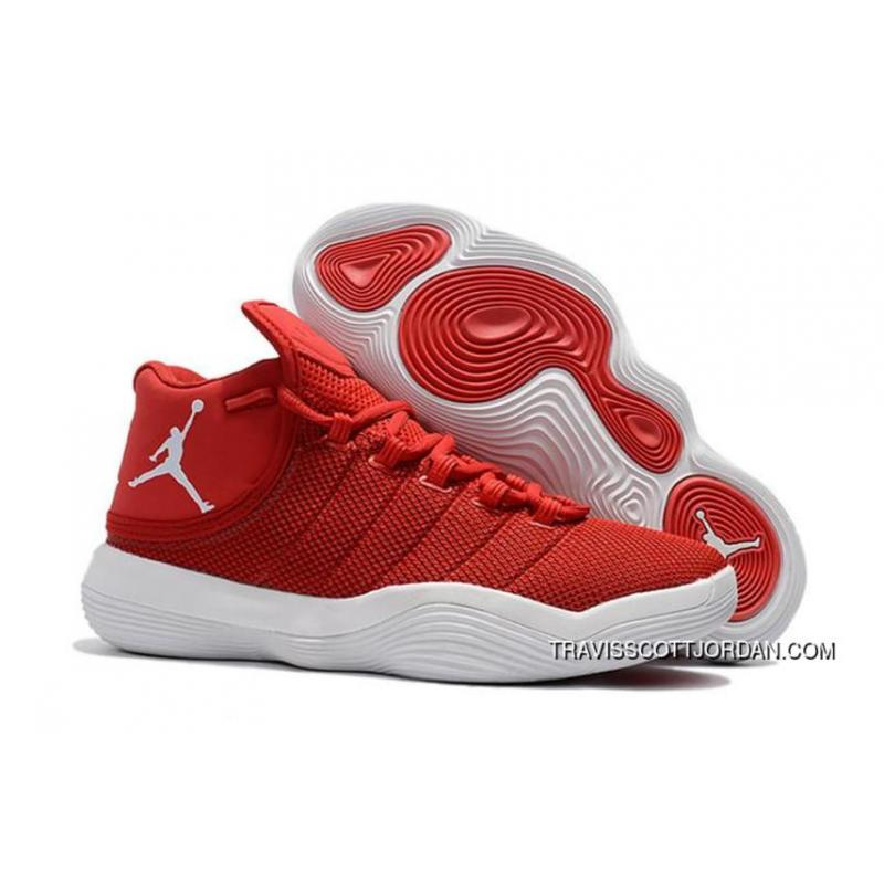 huge selection of 02ba9 a0972 Outlet Jordan Super.Fly 2017 Mens Basketball Shoes Red White ...