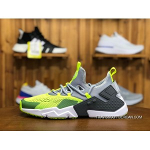 buy online ffba3 d349c NIKE AIR HUARACHE 5 DRIFT A01133 001 Volt/Light Grey-Dark Grey-Black Men  Sport Sneaker Best