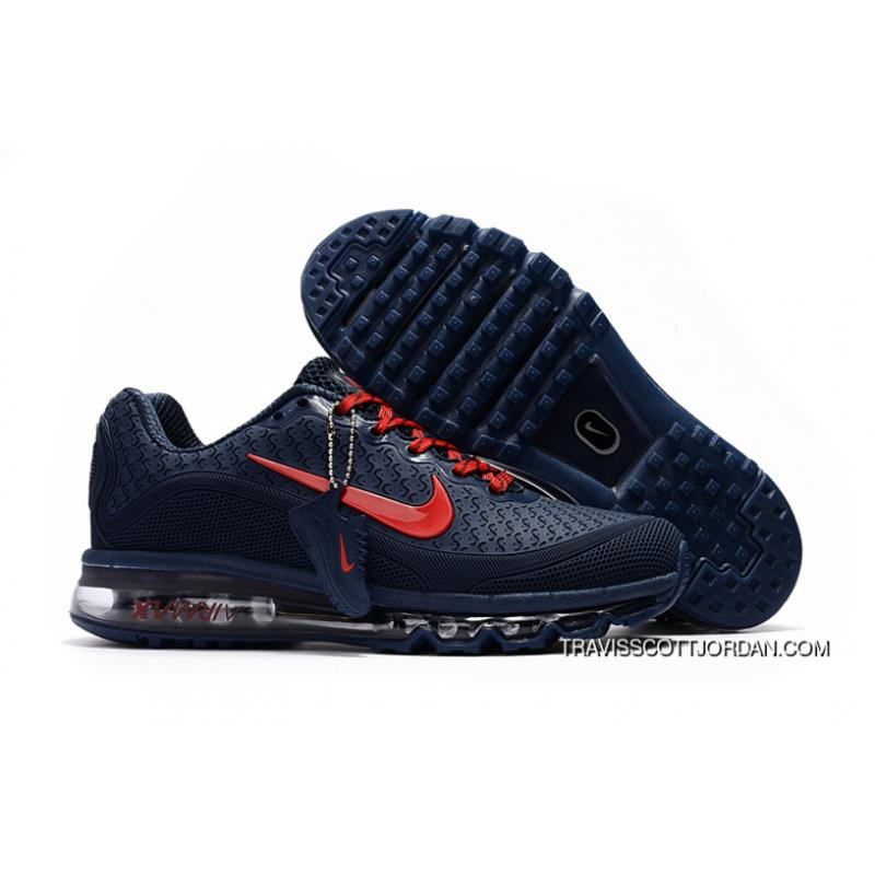 quality design 9d1f2 93e65 Nike Air Max 2017 Mens Shoes Dark Blue Red 849559 007 New Style