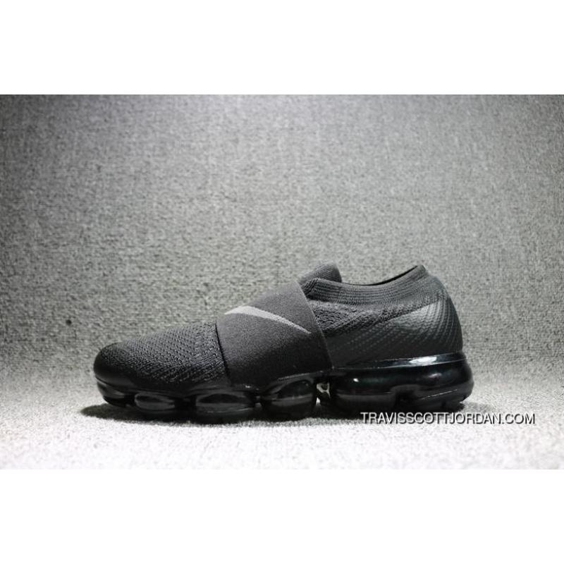 185d71ecaae 2018 Nike Air Vapor Max Flyknit Moc All Black Mens Running Shoes Ah3397 004  New Release ...