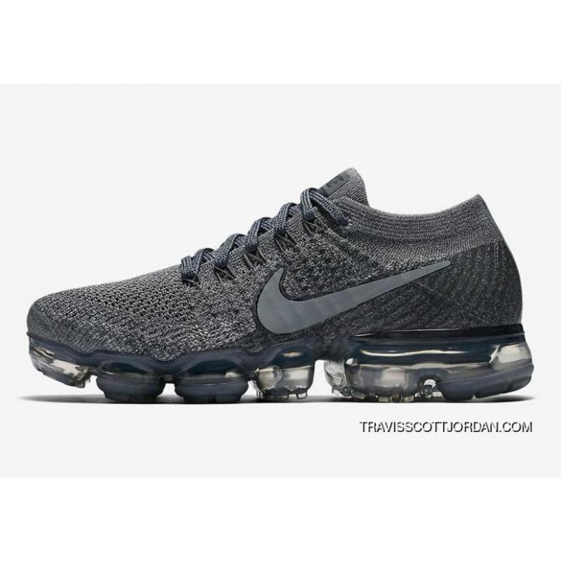 buy online 2b001 a81a3 2018 Nike Air Vapor Max Flyknit Cool Grey Womens Running Shoes 899472 005  Best