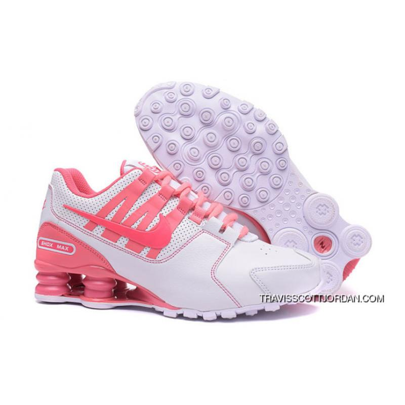 reputable site 72e99 f8ecd 2017 Latest Nike Air Shox Avenue 803 Womens Basketball Shoes White Pink For  New Release