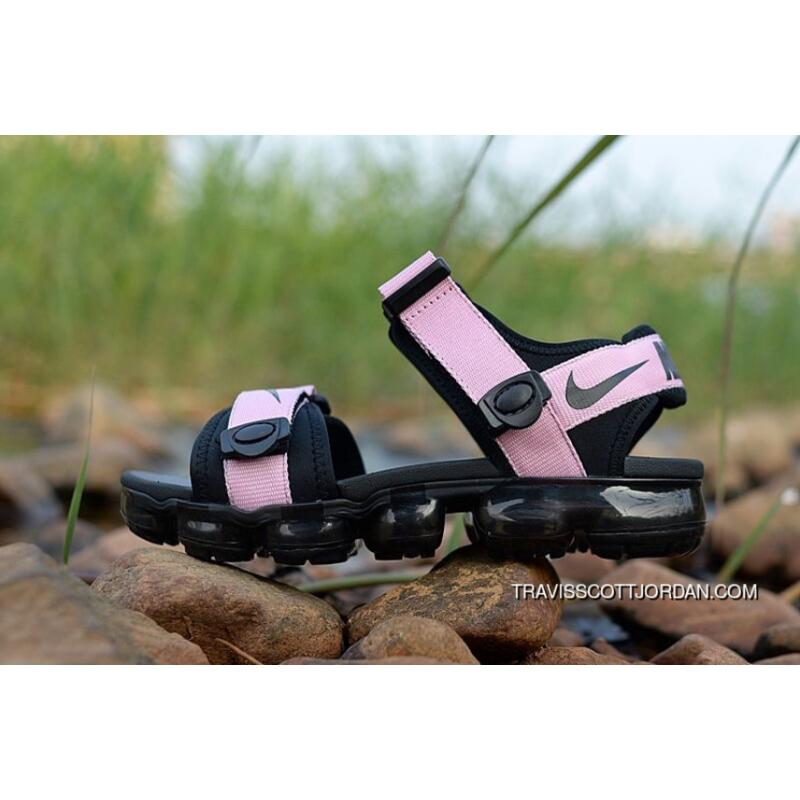 052d0fa30 ... 2018 NIKE AIR Vapormax Sandal Pink Black Sole Womens Leisure Slipper  New Style ...