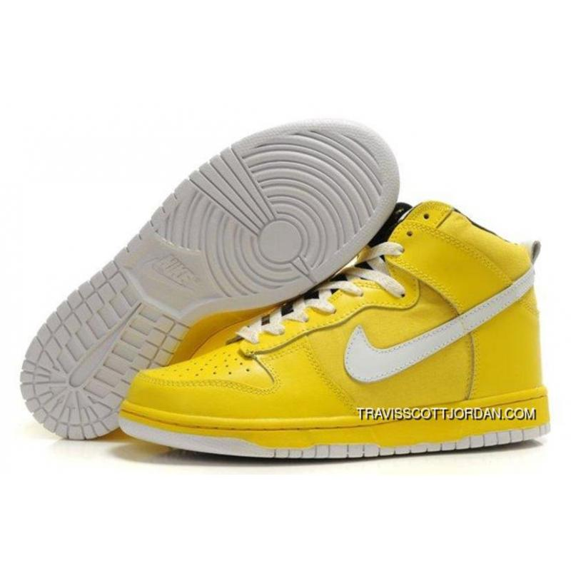 detailed look 83c66 d5b49 Nike Dunk Sb 2012 New High Cut Mens Shoes Yellow White Free Shipping ...