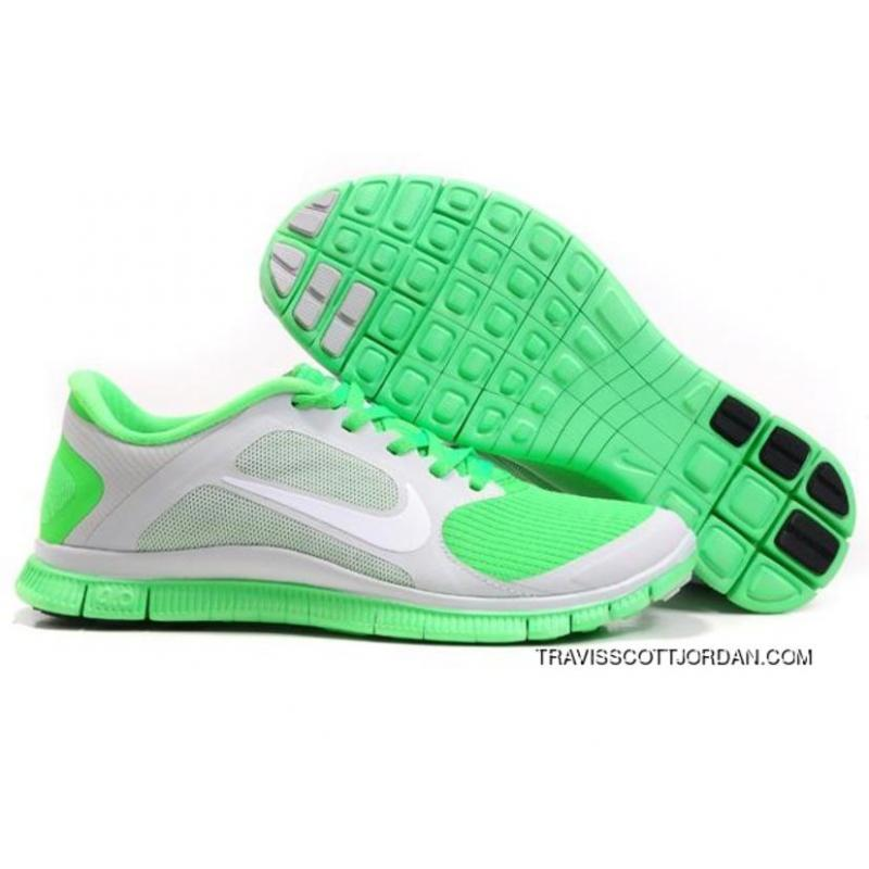 online store 951a4 8ba10 New Year Deals Nike Free Run 4.0 V3 Mens Shoes Grey Green ...