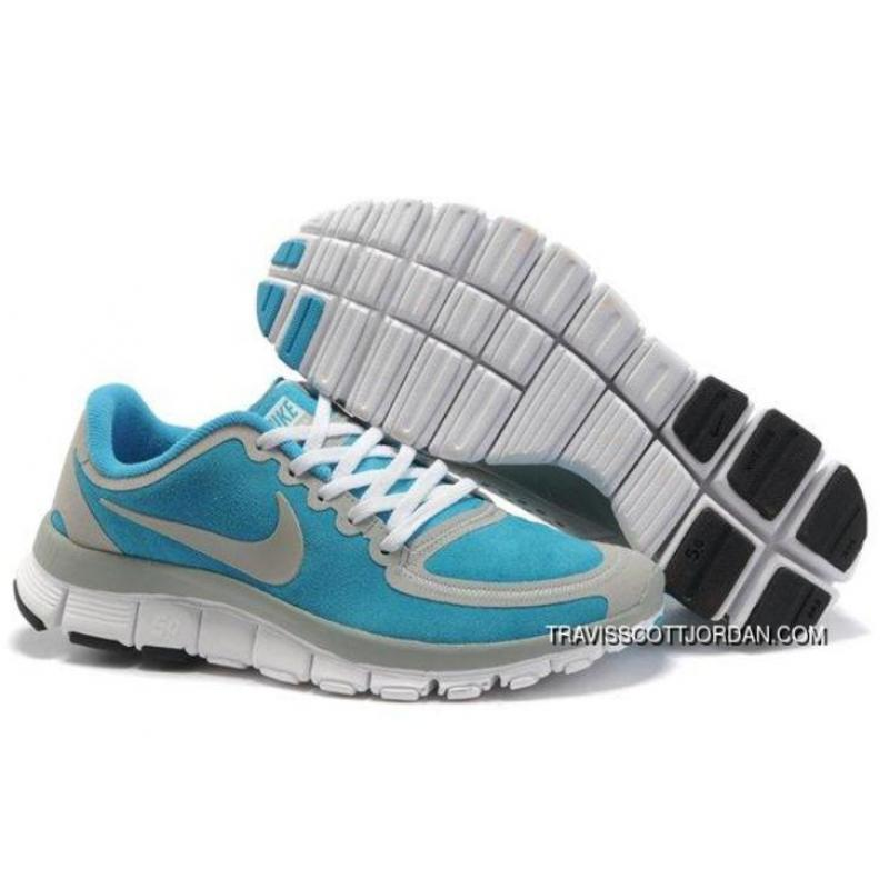sale retailer d4822 6d8bd New Year Deals 2015 Nike Free 5.0 V5 Womens Running Shoes Blue Grey