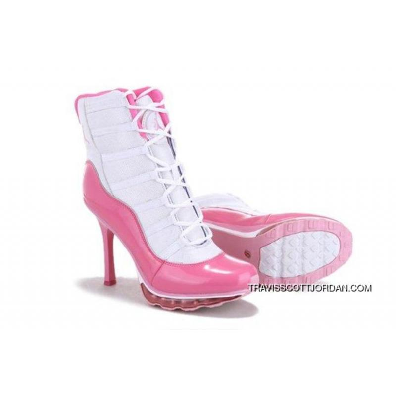 fa3017cc7166 Top Deals Online Hot Sell Nike Air Jordan 11 Xi Womens Heels White Pink ...