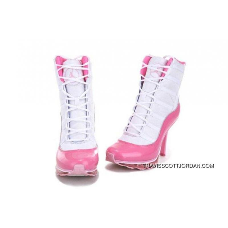 37a569d34c25 ... Top Deals Online Hot Sell Nike Air Jordan 11 Xi Womens Heels White Pink  ...