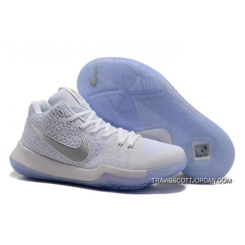 1ac3ebc5ee56f6 ... coupon for nike kyrie 3 sneakers mens basketball shoes white silver  852395 103 free shipping dc2d1