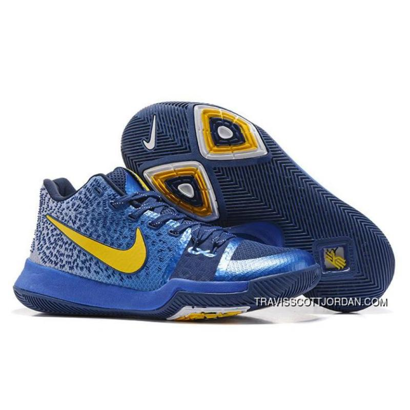 the latest dac94 d2513 Nike Kyrie 3 Sneakers Mens Basketball Shoes Blue Yellow 852395 447 Outlet