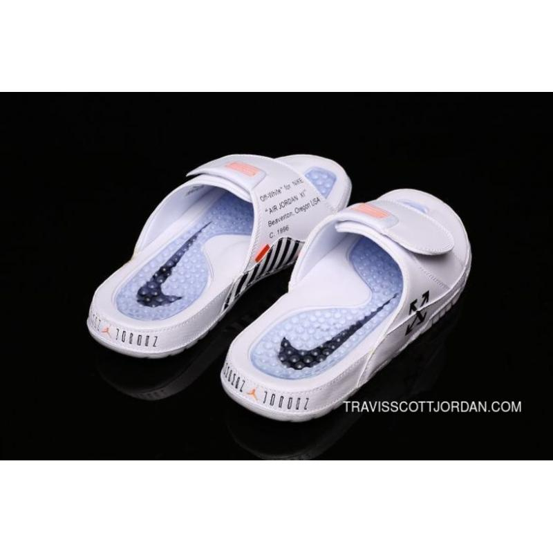 de987f1e17c2 Off White X Air Jordan Hydro XI Sandals AJ11 Velcro Slippers AA1336-101 40-  ...