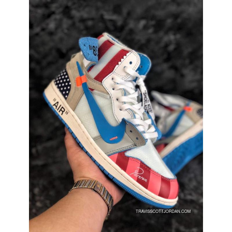 purchase cheap 74938 09540 Piet Parra X Off White NRG X Nike Air Jordan 1 Originals Sports Sneakers  Multi-Colors Latest