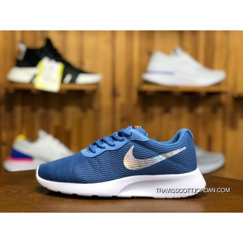 huge selection of 98fcb 694f9 WMNS Rosherun Nike Tanjun 812655 406 Running Shoes Light Breathable Blue  Silver White Top Deals ...