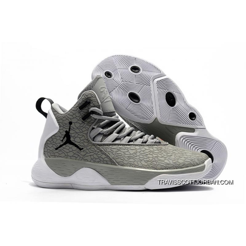 brand new 90943 a5e83 Nike Jordan Super.Fly MVP Cement Grey White-Black Mens Basketball Shoes  Free ...