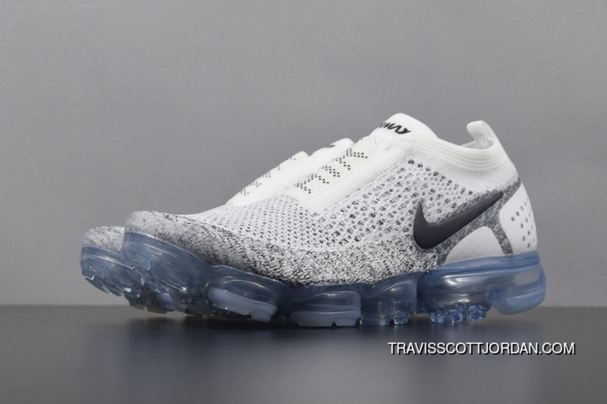 save off 83b15 0c7a2 Nike Air Vapormax Flyknit Moc 2 AH7006-101 Mens Running Shoes White Oreo  Transparent Bottom New Release