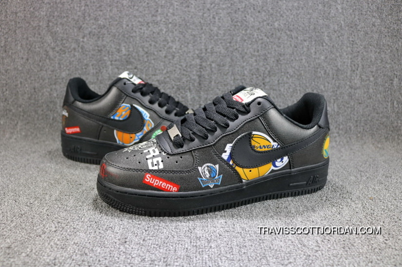 official photos 212f6 4235a Supreme X NBA X Nike Air Force 1 AF1 AQ8017-001 Low Black Skateboarding  Shoes Best