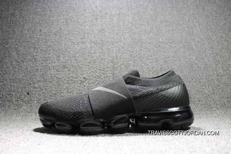 innovative design 1fe74 6efd0 2018 Nike Air Vapor Max Flyknit Moc All Black Mens Running Shoes Ah3397 004  New Release