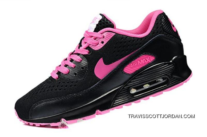Top Deals Nike Air Max 90 Em Womens Shoes 2014 Black Rosa