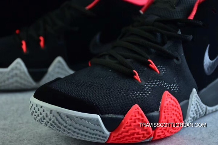 super popular 3132e bf3c2 New Nike Kyrie 4 Black-Solar Red Hot Free Shipping